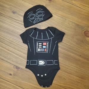 Star Wars Baby Costume Bodysuit and Cap Set 0-3M